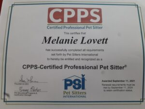 Certified Pet Sitter in Boulder CO